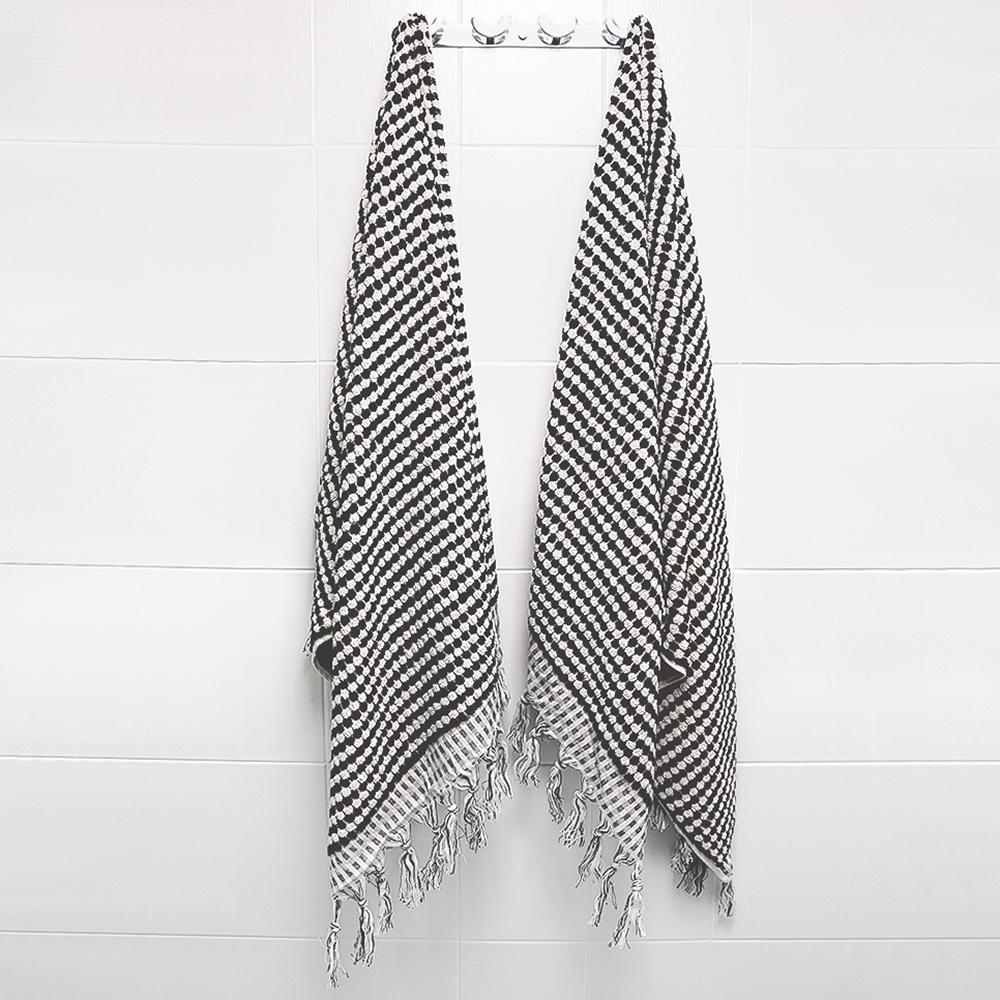Pom Pom Turkish Towel Black And White Gabe Nix